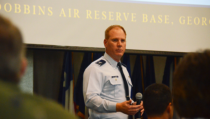 Vice Commander addresses policy committee